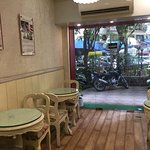 This is a small cafe with limited seating and not enough for a larger group.