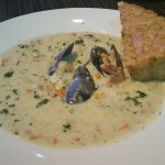 Amazing Seafood Chowder (Chaudree) is loaded with prawns, cod, mussels and more.