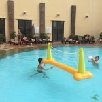 Kids enjoy playing in the pool!