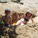 Kids having a wonderful time on the beach