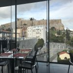 View of Acropolis from Acropolis Museum Restaurant