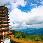 Beautiful Nine-Storey Pagoda of Chin Swee Cave Temple
