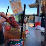 Hurricane Pattys St. Augustine FLA Bloody Mary bar