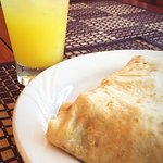 Roti & Local Passion Fruit Drink
