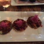 appetizer : pulled pork tacos , sublime