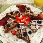 Buttermilk waffle with berries