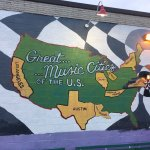 Awesome murals adorn the exterior of the Birchmere music hall!