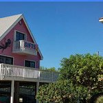 Out of the Blue Gift Shop is a Pink Building on Big Pine Key