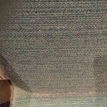 Dirt in crevice of chair