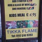 Signboard advertising kids meal