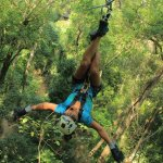 The most thrilling zip-lining for me.I still feel that amazing moment whenever I see this pictur