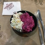 the potato and beetroot salad