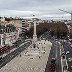 Altis Avenida Hotel, Lisbon - view from the breakfast room / top floor restaurant