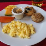 Hearty breakfast served with your stay