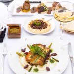 Pan Seared Cod Tenderloin, Hummus Awarma, Assiette