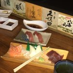 Sashimi tuna, marlin, salmon