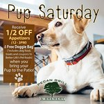 1/2 off any Appetizers from 12 pm - 3 pm on the Patio with your furry companion!