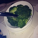 The side of broccoli is a HUGE Portion...plenty to share