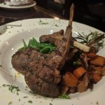 Tonight's special: Lamb chops w/sweet potatoes and green beans (very good).