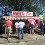 Photo of the Red's Eats while we were there on vacation. The line wrapped around the block.