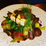 Cornmeal Crusted Tofu and Mixed Roasted Vegetables!