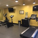 gym facility with overhead TV