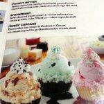 cupcakes on the dessert menu