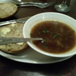 French onion soup. Tasted good, but such a tiny portion.
