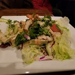 Green salad with tasty lime dressing & grilled chicken