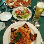 Pizza Alla Caprese. Spaghetti Alla Pescatore. Amazing !!