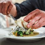 Fresh fish  with local vegetables from our autum menu