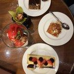 Cheesecake, Hazelnut praline, Opera Cake