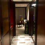 Corridor from door into room