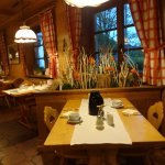 Interior do restaurante do hotel