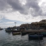 Marsaxlokk Bay in the January afternoon
