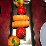 Fried dim sum dish, describded as puffs!