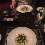 Mains: Fettucine Alfredo and Gnocchi di Patate