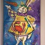 Interesting art in the restaurant