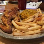 Quarter chicken, Portuguese rice and fries