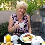 Breakfast on our Terrace. Only one of these room with Miravida Soho Hotel