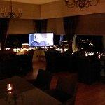 Lounge area at night