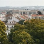 A view of the hotel from Tavira Bell Towerv