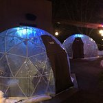 Igloos that you can make reservations to eat in