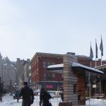 A traditional shopping area with a Beavertails and all