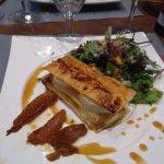 salade feuilleté de chèvre