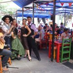 Nuestro cantante Guido y nuestros bailarines de Tango y Folklore.