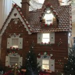 ginger bread house in the grand floridian resort during the holidays