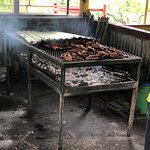 All grilled outdoors. Real Jamaica!!!