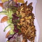 Chicken Shawarma and Salad
