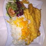 Whole Sea Bass and Saffron Rice (Mahi Polow)